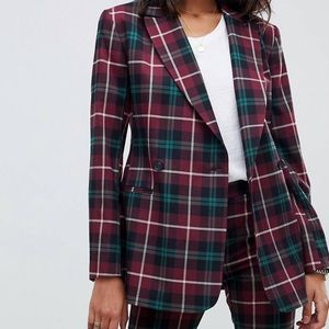 Asos Check Power suit.